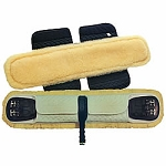 Mattes Adjustable Sheepskin Girth Cover Dressage - Black 28