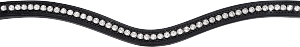 OS Tiffany Swarovski Crystal Browband Unicolor Wave